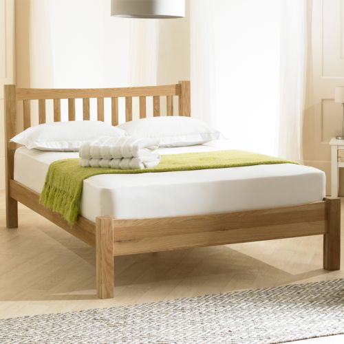 Milan Classic Oak Wood Bed - 3 Sizes