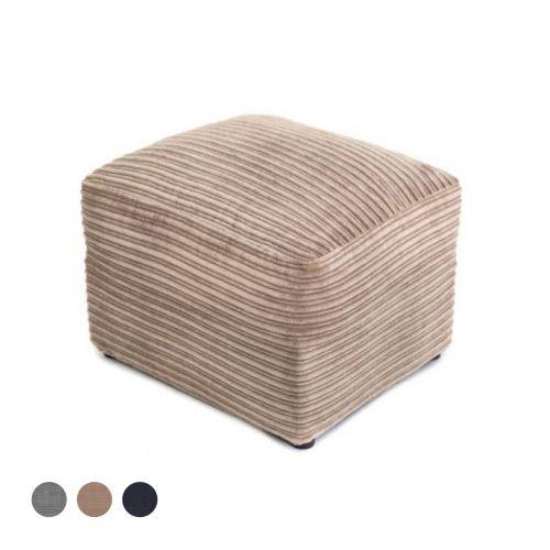 Porto Jumbo Cord Footstool - Brown