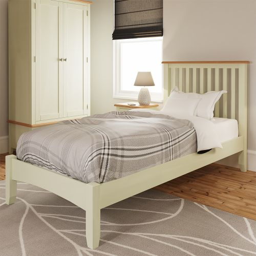Luxury 3FT Single Bed Frame - White