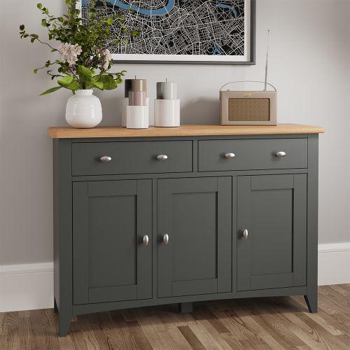 Juniper Large 3 Door Sideboard - Grey
