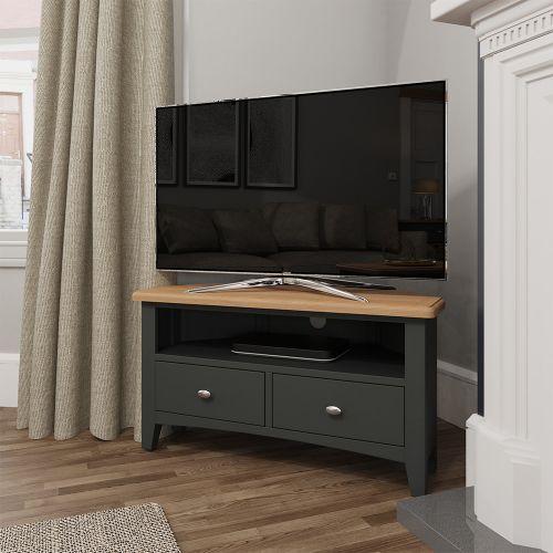 Juniper Corner TV Unit - Grey