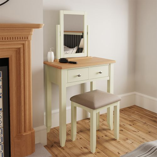 Luxury Dressing Table Stool - White