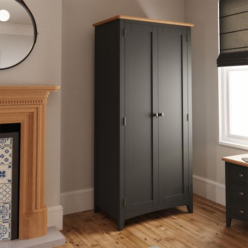 Juniper 2 Door Full Hanging Wardrobe - Grey