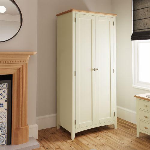 Luxury 2 Door Full Hanging Wardrobe - White