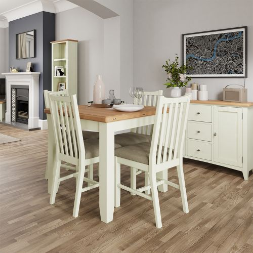Luxury Flip Top Dining Table - White