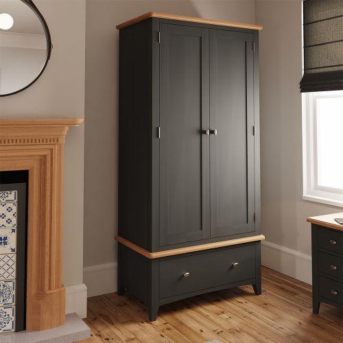 Juniper Double Wardrobe - Grey