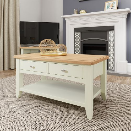 Luxury Large Coffee Table - White