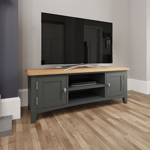 Juniper Large TV Unit - Grey