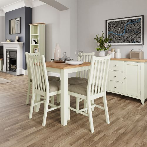 Luxury Fixed Top Dining Table - White