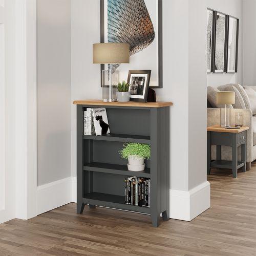 Juniper Small Wide Bookcase - Grey
