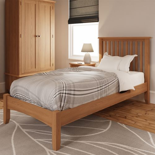 Comodo 3FT Single Bed Frame - Light Oak