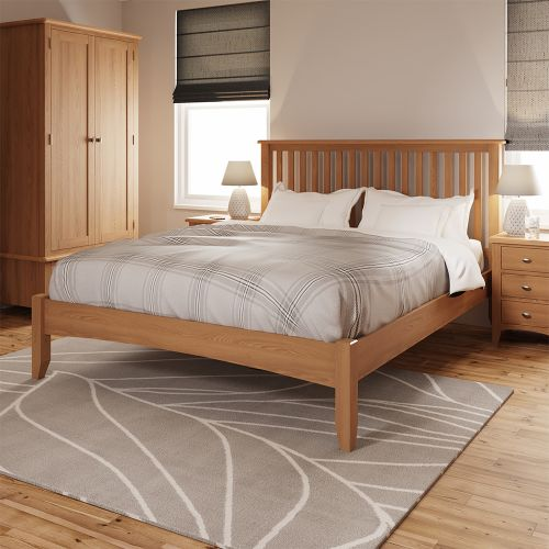 Comodo 5FT Kingsize Bed Frame - Light Oak