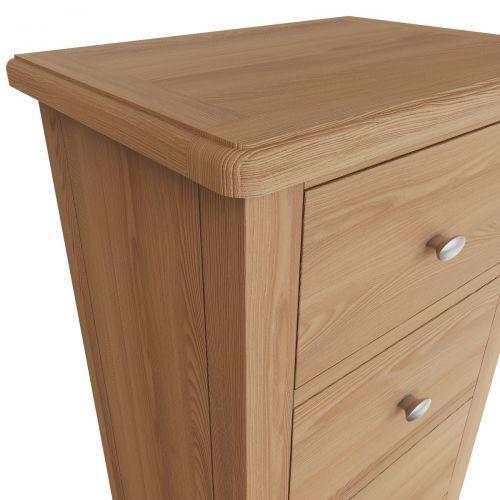 Comodo 5 Drawer Narrow Chest - Light Oak