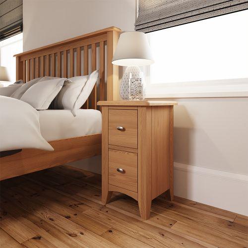 Comodo Small Bedside Cabinet - Light Oak