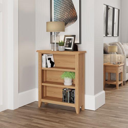 Ocado Small Wide Bookcase - Light Oak