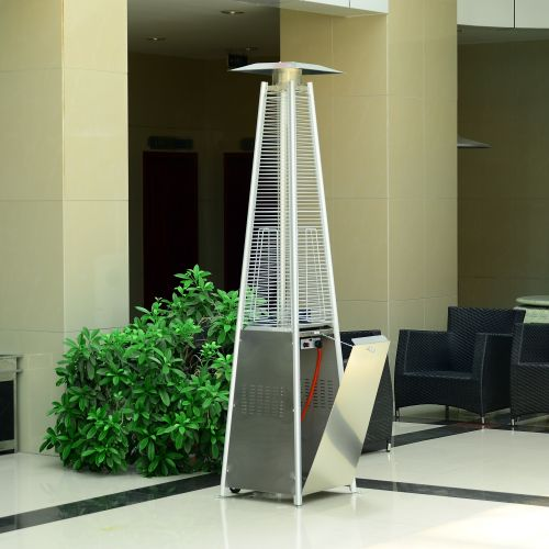 Stainless Steel Outdoor Pyramid Propane Gas Heater 13 kW