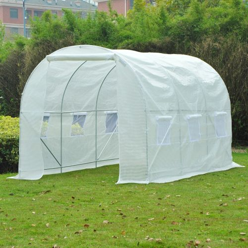 Outsunny Large Galvanized Poly Tunnel