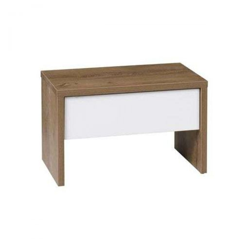 Gwen Bedside Table - Burgundy Oak and White or Grey