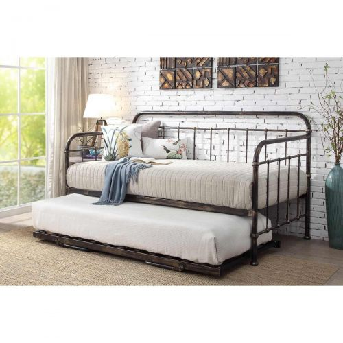 Harlow Hospital Style Day Bed & Trundle - Black, White or Bronze