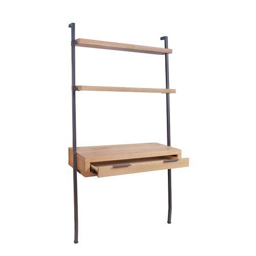 Elane Desk Bookcase - Oak