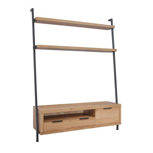 Elane TV Bookcase - Oak