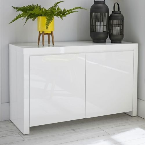 LPD Puro Gloss 2 Door Sideboard - Cream, Stone, Charcoal or White