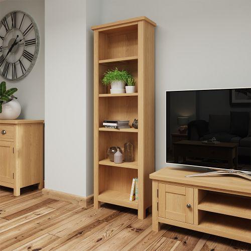 Herman Large Bookcase - Rustic Oak