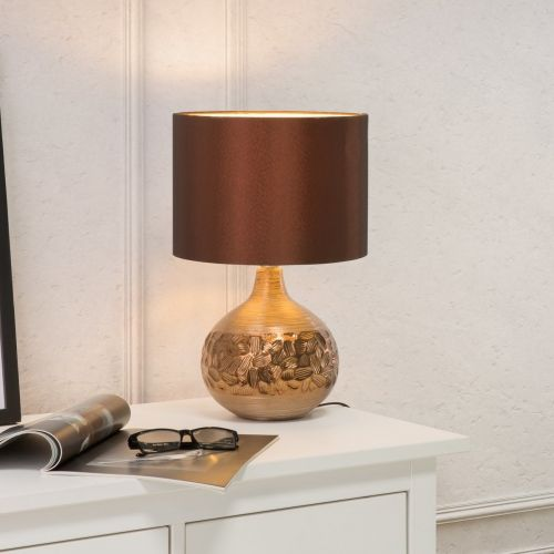 Yakima Elegant Table Lamp - Brown or Silver