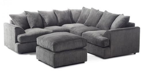 Jamba Double-Padded Fabric Corner Sofa