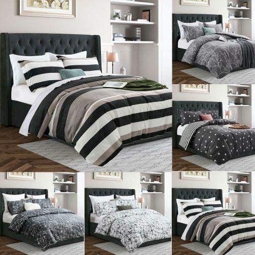 Modern Duvet Pillowcase Cover Bedding Set Various Colours - 3 Sizes