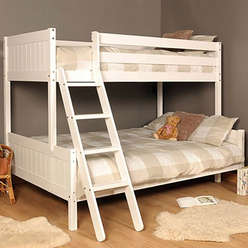 Triple Wooden Kids Bunk Bed with Mattress Option - 2 Colours