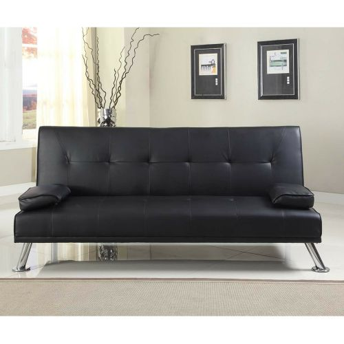 Stunning Faux Leather 3 Seater Sofa Bed - 4 Colours