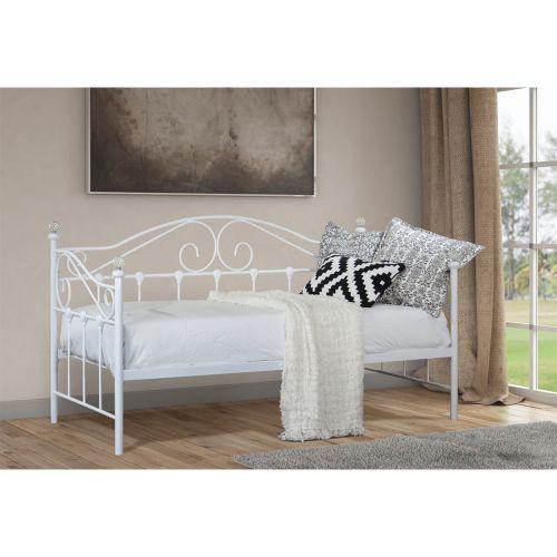 Modern Designer 3FT Single Metal Day Bed - 2 Colours