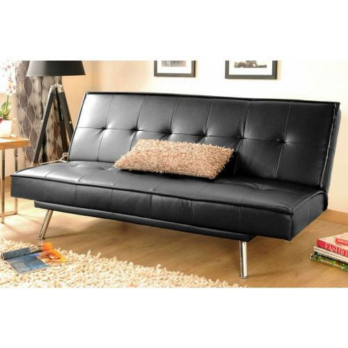 Multi Function Faux Leather 3 Seater Sofa Bed - 2 Colours