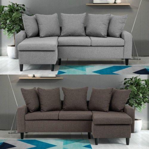 Napot Fabric Corner Sofa Suite in 3 Colours