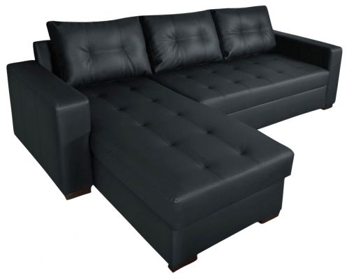 Onix Leather Corner Sofa Bed