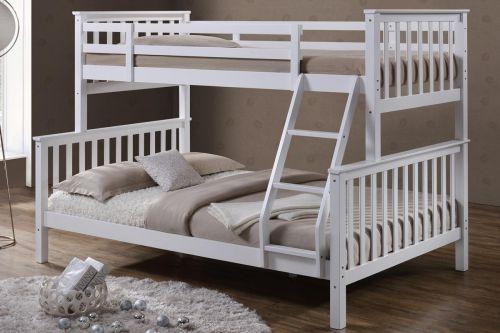 Oscar White Wooden Triple Sleeper Bunk Bed