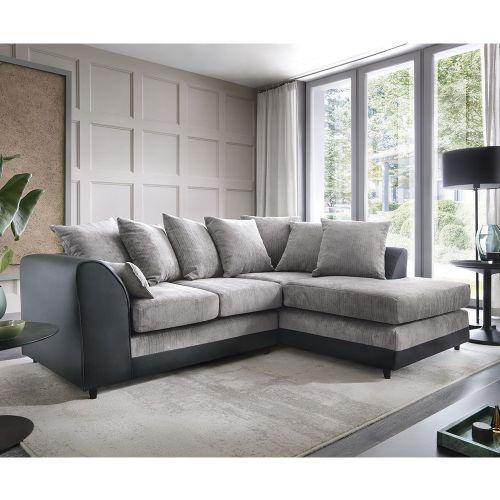 Dilan Corner Sofa - Black, Brown