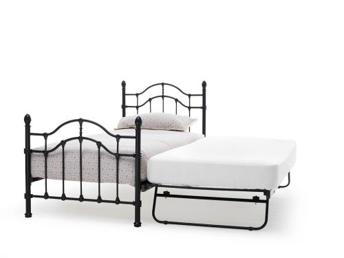 Paris Classic Metal Bed & Guest Bed - White or Black