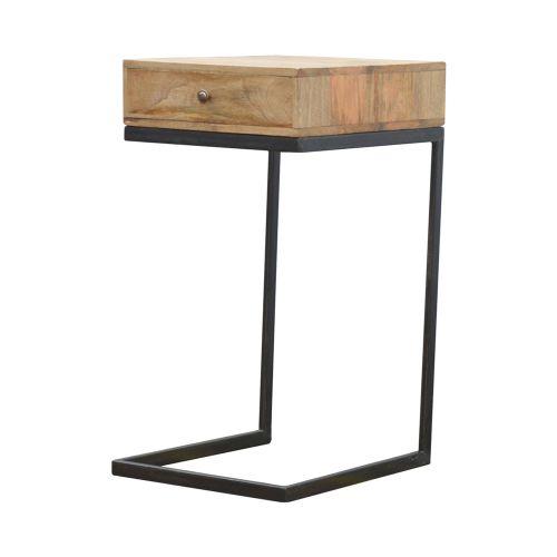 Iron Base Geometric Style Bedside Table