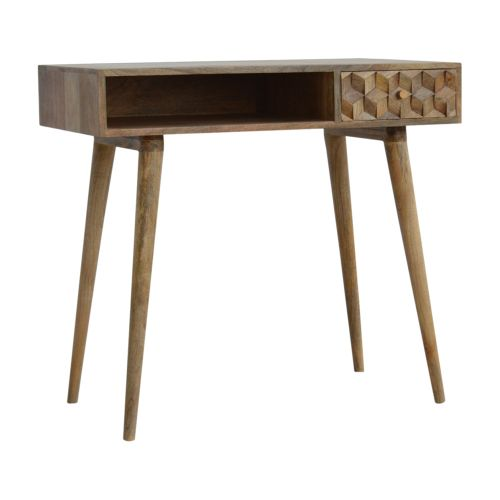 Cube Carved Writing Desk
