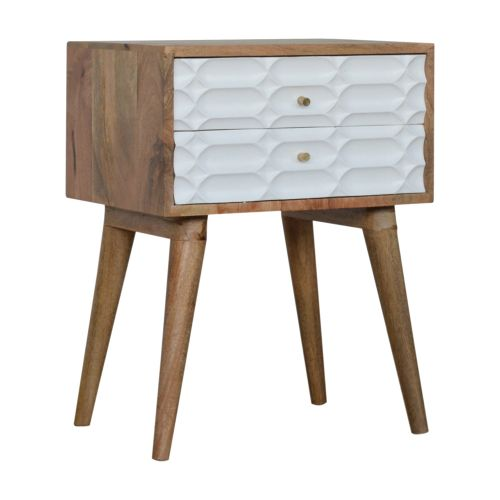 Capsule Carved Bedside Table