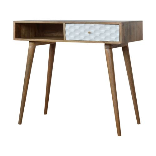 Honeycomb Carved Writing Desk