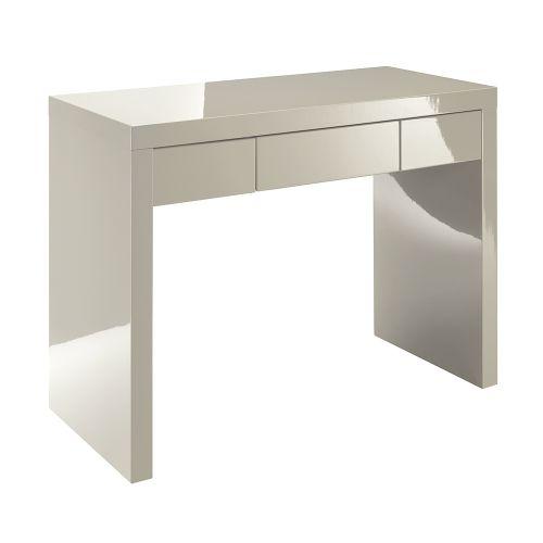 LPD Puro 1 Drawer High Gloss Dressing Table - Stone