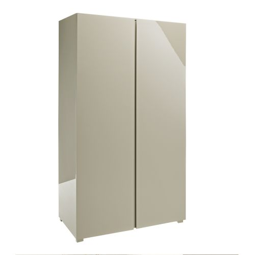 LPD Puro 2 Door High Gloss Wardrobe - Stone
