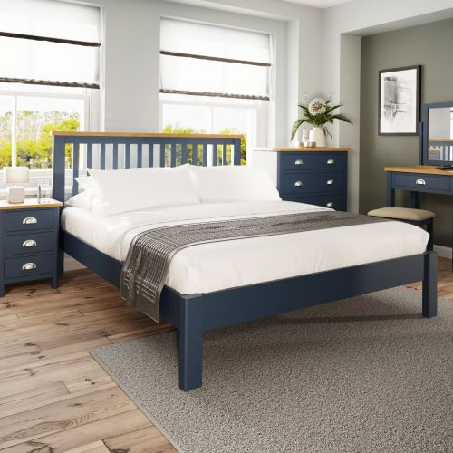 Alcia 5FT Kingsize Bed Frame - Blue