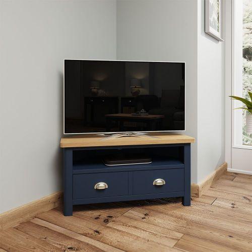 Astar Corner TV Unit - Blue