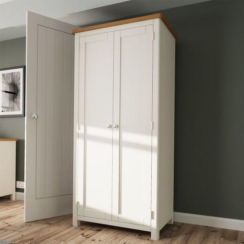 Palit 2 Door Full Hanging Wardrobe - Dove Grey