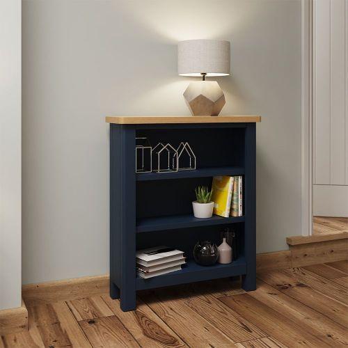Astar Small Wide Bookcase - Blue