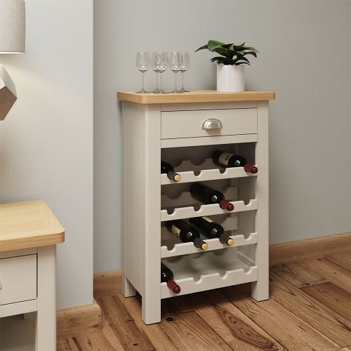 Ether Wine Cabinet - Dove Grey